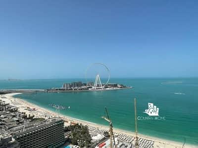 فلیٹ 3 غرف نوم للايجار في جميرا بيتش ريزيدنس، دبي - Sea View | 3 Bed High Floor |High-end Finishing