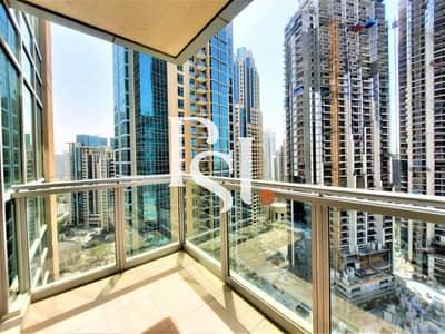 شقة 1 غرفة نوم للايجار في وسط مدينة دبي، دبي - Spacious/ Bright/ 1BHK/High Floor/Balcony/Open View