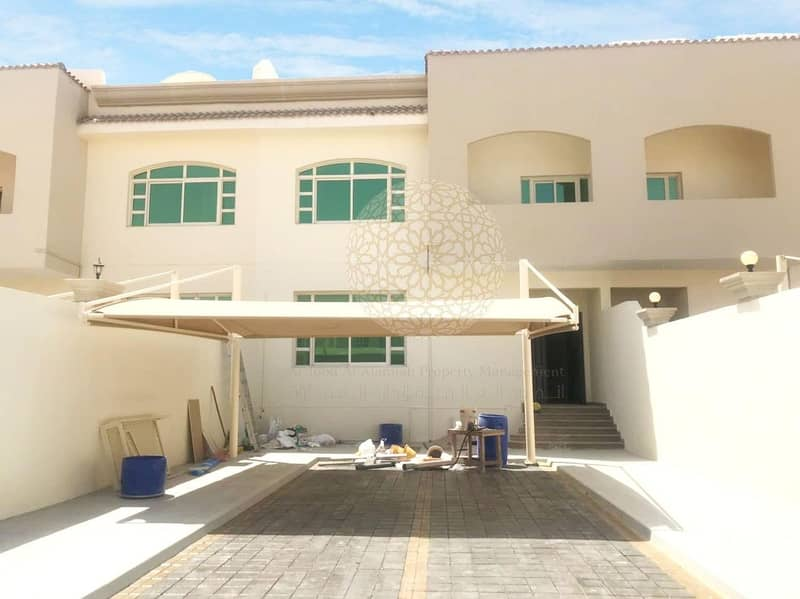 SWEET 5 BEDROOM SEMI INDEPENDENT VILLA WITH BIG YARD FOR RENT IN KHALIFA CITY A