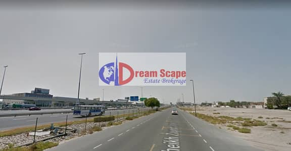 ارض تجارية  للبيع في شارع الشيخ زايد، دبي - Freehold Commercial Plot  for G+3 Building Main Road Sheikh Zayed Road