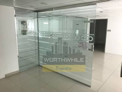 Best place for Saloon!!! A beautiful 1611 sq ft glass fitted office space is for rent in Khalidiyah