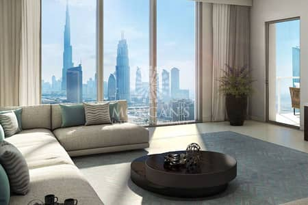 2 Bedroom Apartment for Sale in Downtown Dubai, Dubai - Big 2BR with Burj view in downtown views 2