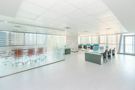 Office for Rent in Jumeirah Lake Towers (JLT), Dubai - Furnished Office | Partitioned | 2 Parking | Balcony | DMCC