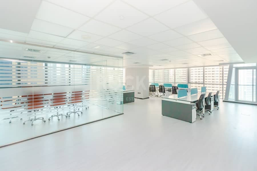 Furnished Office | Partitioned | 2 Parking | Balcony | DMCC