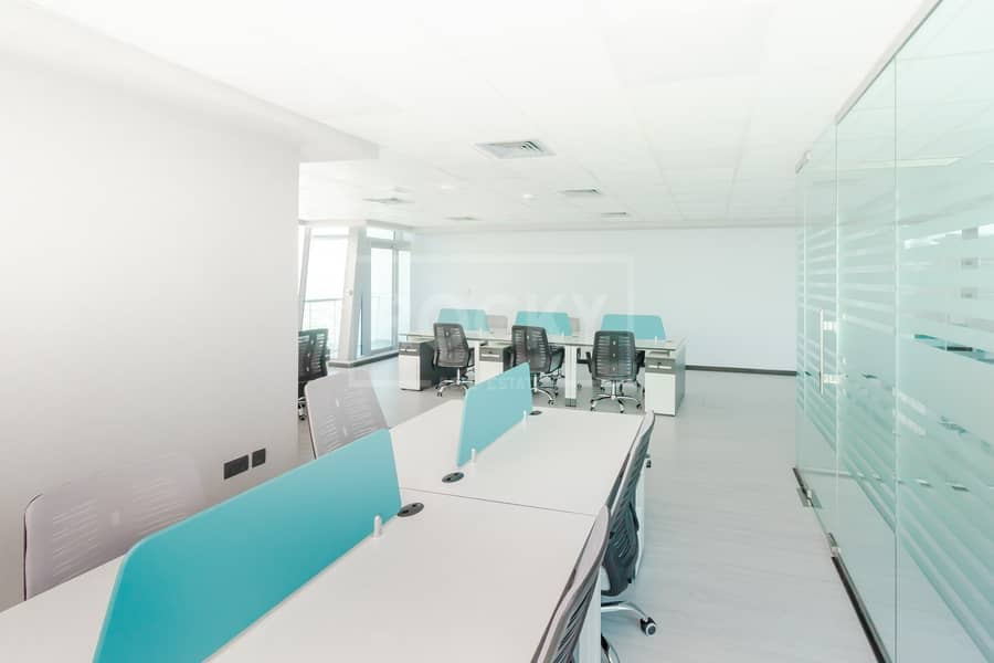 2 Furnished Office | Partitioned | 2 Parking | Balcony | DMCC