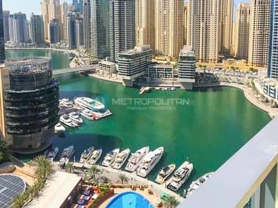 شقة 1 غرفة نوم للبيع في دبي مارينا، دبي - Fully Furnished|Investors Deal|Mid Flr|Marina View