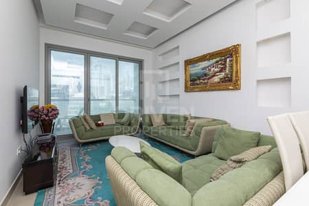1 Bedroom Apartment for Rent in Business Bay, Dubai - Vacant with Burj View | Modern Furniture