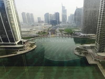 Office for Sale in Jumeirah Lake Towers (JLT), Dubai - Full Lake View Large Fitted Office With Partition