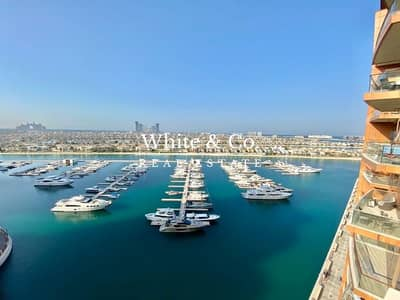2 Bedroom Flat for Rent in Palm Jumeirah, Dubai - 2 BED AND STUDY | SUNSET FROM LARGE BALCONY