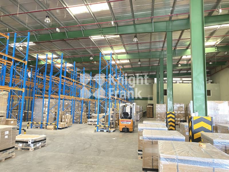 Racked Warehouse with Large Corporate Office