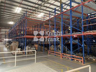 Warehouse for Rent in Technology Park, Dubai - Warehouse With Mezzanine Racking System - For Rent