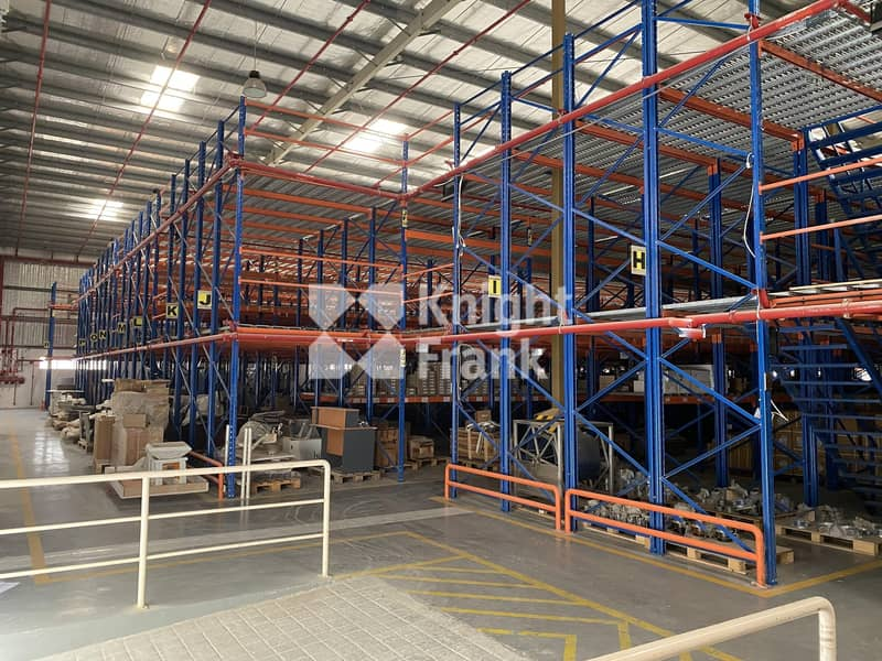 Warehouse   Factory with mezzanine racking