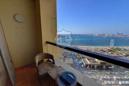 3 Bedroom Apartment for Rent in Jumeirah Beach Residence (JBR), Dubai - Fully-Furnished 3 BR | With View of Sea & Dubai Eye