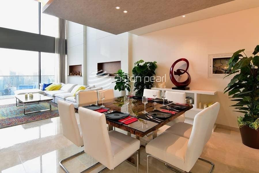 2 Genuine Luxury Duplex Penthouse | Full Marina View
