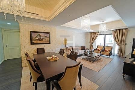شقة 3 غرف نوم للبيع في نخلة جميرا، دبي - Fairmont's finest furnished apartment