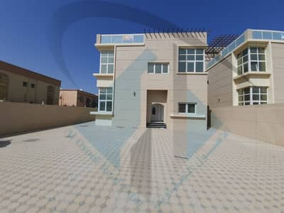 6 Bedroom Villa for Sale in Al Rawda, Ajman - For sale a new villa, the first inhabitant, with air conditioners, in a corner of two streets, consisting of 6 rooms, on Sheikh Ammar Street