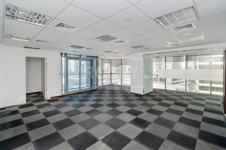 Office for Rent in Jumeirah Lake Towers (JLT), Dubai - Fitted Office | Partitioned | Balcony | Close to Metro | DMCC