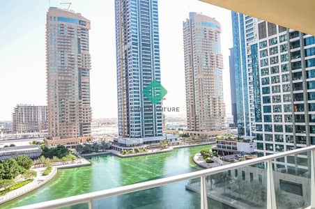 2 Bedroom Apartment for Rent in Jumeirah Lake Towers (JLT), Dubai - Full Lake view 2 bedrooms with Balcony