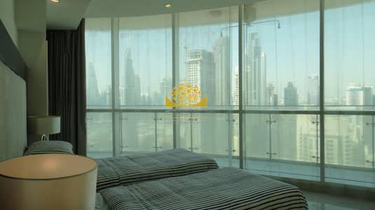 شقة فندقية 2 غرفة نوم للايجار في وسط مدينة دبي، دبي - Full Burj Khalifa & Fountain View / High Floor / Vacant
