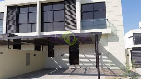 3 Bedroom Villa for Rent in DAMAC Hills (Akoya by DAMAC), Dubai - Landscaped Corner -  Single Row