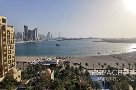 فلیٹ 3 غرف نوم للبيع في نخلة جميرا، دبي - Huge Terrace| Full Sea View | Large Layout