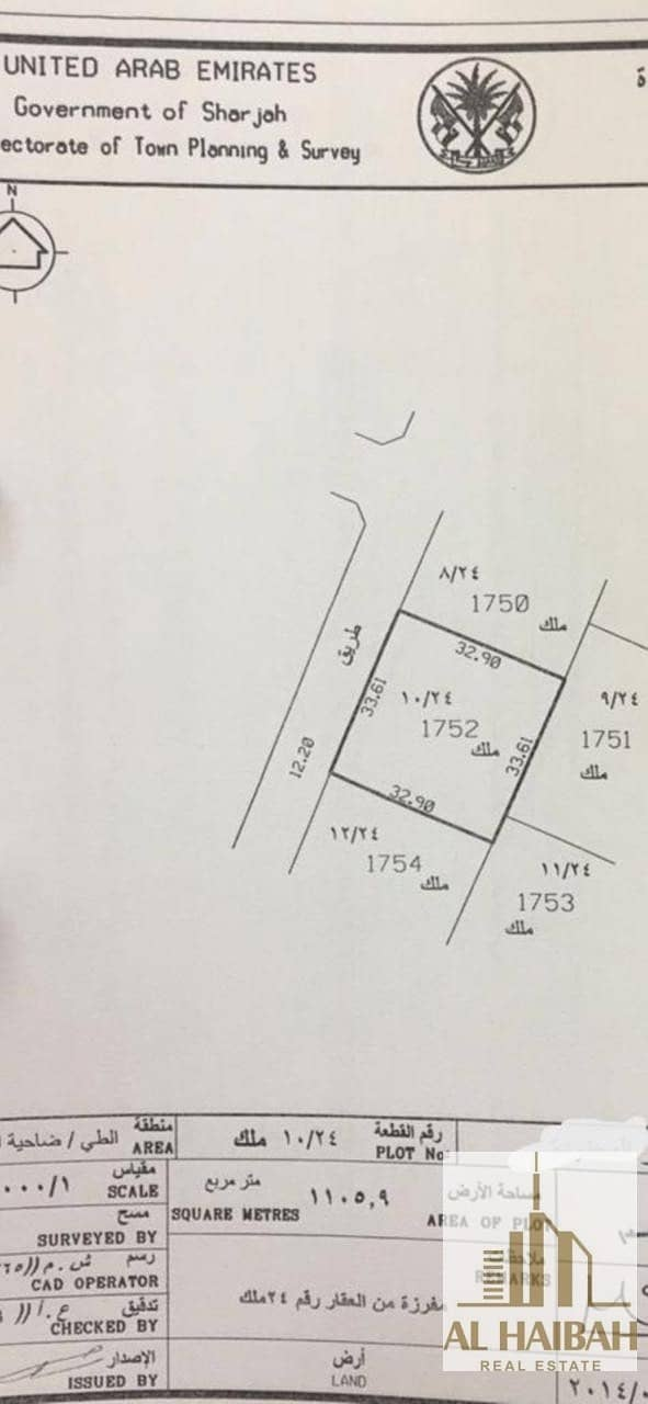 For sale residential land in Al-Tai, the corner of two streets
