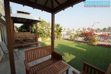 4 Bedroom Townhouse for Sale in Al Hamra Village, Ras Al Khaimah - Fully Upgraded Townhouse - Great Lagoon and Golf Views