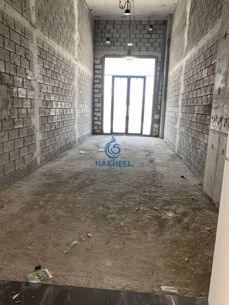 9 Best Offer | Spacious Retail Shop | Direct From Nakheel shell and core