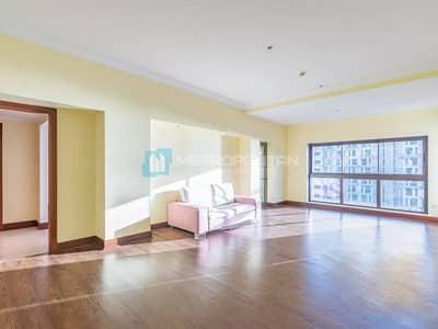 شقة 2 غرفة نوم للايجار في نخلة جميرا، دبي - 2BR PLUS MAID WITH UPGRADED BATHROOMS ON THE PALM