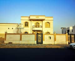 The most beautiful villas in Ajman European villa faced with a stone On the sidewalk Street, luxury design The best real estate agents Owns the villa of a lifetime at a price of a shot and all