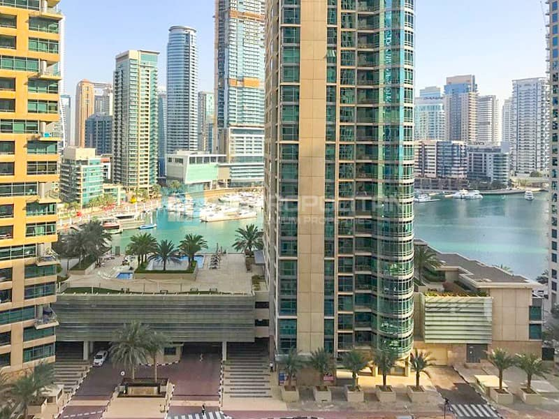 2 Full Marina View|2 Balconies| Well Maintained