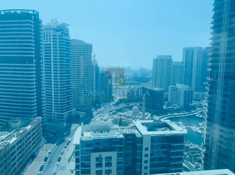 14 Higher floor Furnished 1BR Marina and Sea View