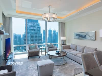 2 Bedroom Hotel Apartment for Rent in Downtown Dubai, Dubai - Burj Khalifa View | Luxurious | Fully Furnished