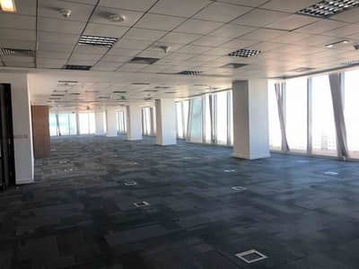 Office for Rent in Danet Abu Dhabi, Abu Dhabi - Semi fitted office | Full floor | Pantry |
