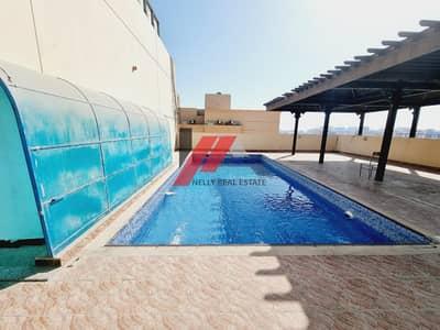 Front in al nahda pond park 1600 2 bhk both master balcony wardrobe with all facilities 45k