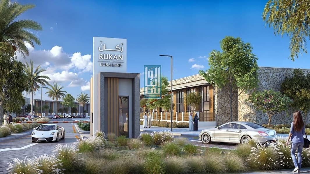 2 cheapst townhouse in Dubai land  with easy  payment plan