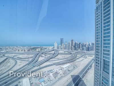 Office for Rent in Jumeirah Lake Towers (JLT), Dubai - Furnished - High Floor - Bright Office
