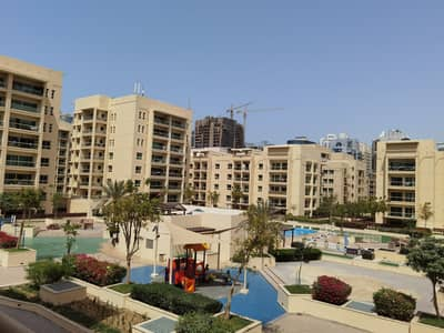 شقة 1 غرفة نوم للايجار في الروضة، دبي - Pool view