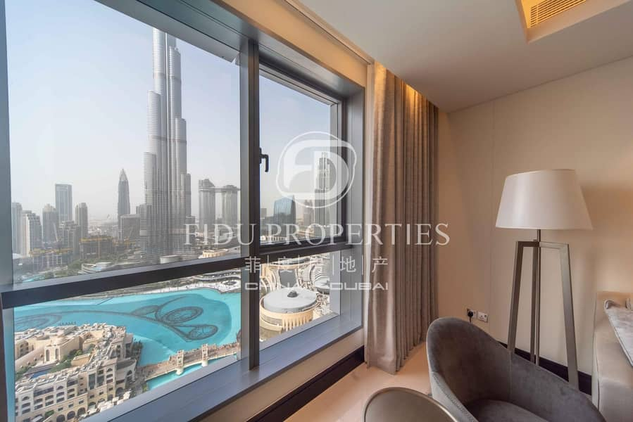 Full Burj and Fountain view | High floor | All in