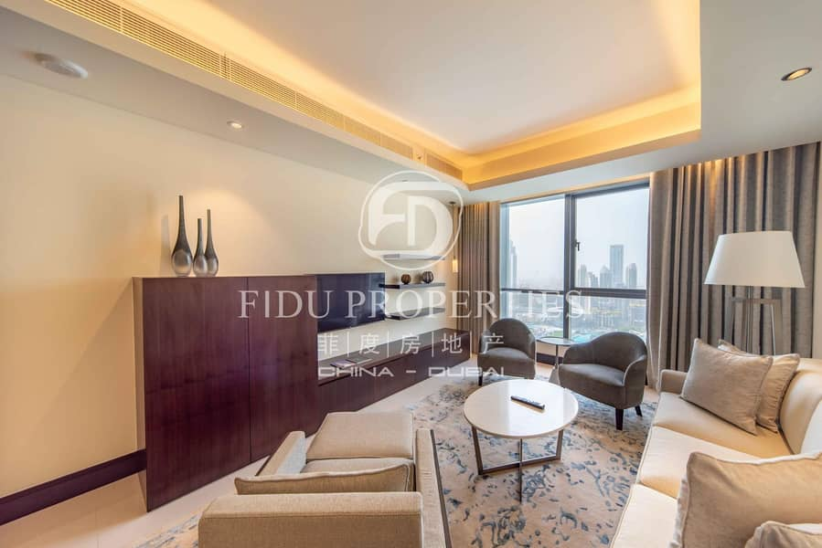 2 Full Burj and Fountain view | High floor | All in