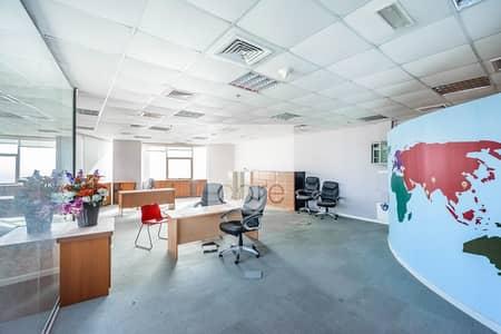 مکتب  للايجار في أبراج بحيرات الجميرا، دبي - Furnished Office | High Floor | Near the Metro