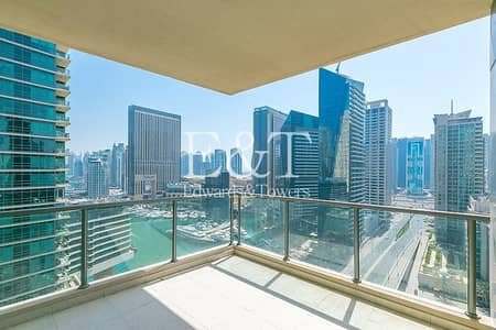 3 Bedroom Flat for Rent in Dubai Marina, Dubai - New to the Market | Full Marina View | Terrace