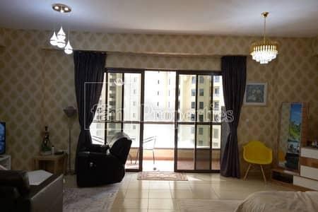 Studio for Rent in Jumeirah Beach Residence (JBR), Dubai - Fully furnished studio | Community View |Low floor