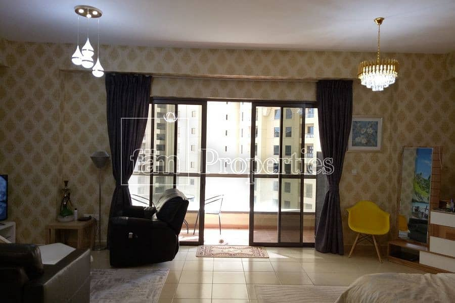 Fully furnished studio   Community View  Low floor