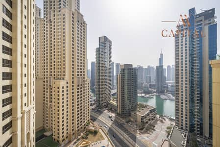2 Bedroom Apartment for Rent in Jumeirah Beach Residence (JBR), Dubai - Marina View | Unfurnished | Spacious