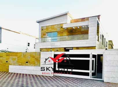 5 Bedroom Villa for Sale in Al Mowaihat, Ajman - The most beautiful villas and the best finishes And the lowest prices in Ajman Contact us now The largest real estate office in Ajman The best agents All banking facilities and procedures In the fastest time