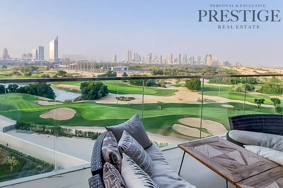 Golf course View | Furnished | 3 Beds Plus Maid