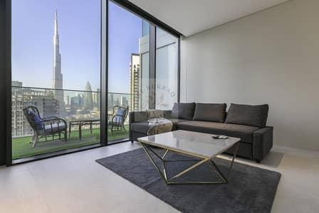 Studio for Rent in Business Bay, Dubai - Unfurnished | Burj Khalifa View | 1 Month Free