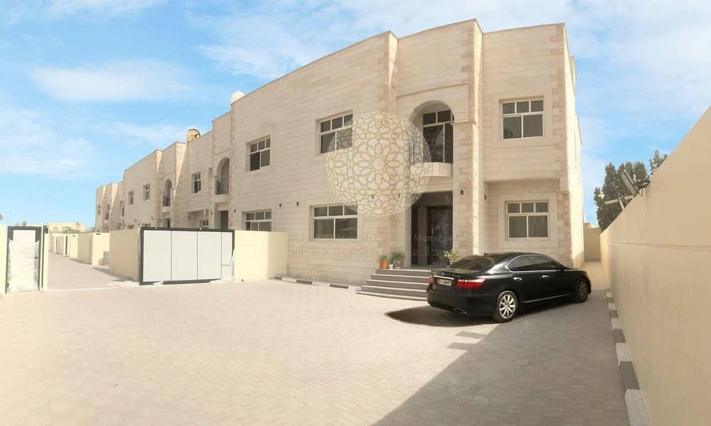 2 PREMIUM QUALITY 6 MASTER BEDROOM & MAID ROOM COMPOUND VILLA WITH PRIVATE ENTRANCE  FOR RENT IN MOHAMMED BIN ZAYED CITY