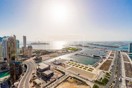 4 Bedroom Penthouse for Rent in Dubai Marina, Dubai - Spacious | Higher Floor | 4-Bed | Sea and Palm View